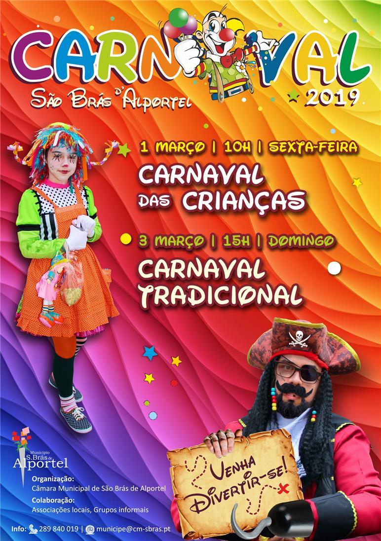 cartaz do carnaval de são brás de alportel de 2019